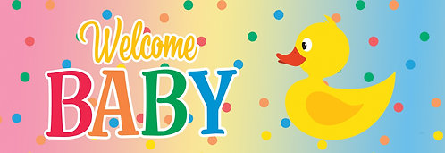 WELCOME BABY SIGNATURE SIGN