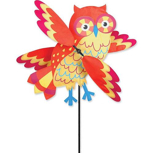 21in ORANGE OWL WHIRLIGIG SPINNER