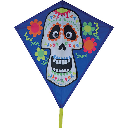 "30"" SUGAR SKULL DIAMOND KITE"