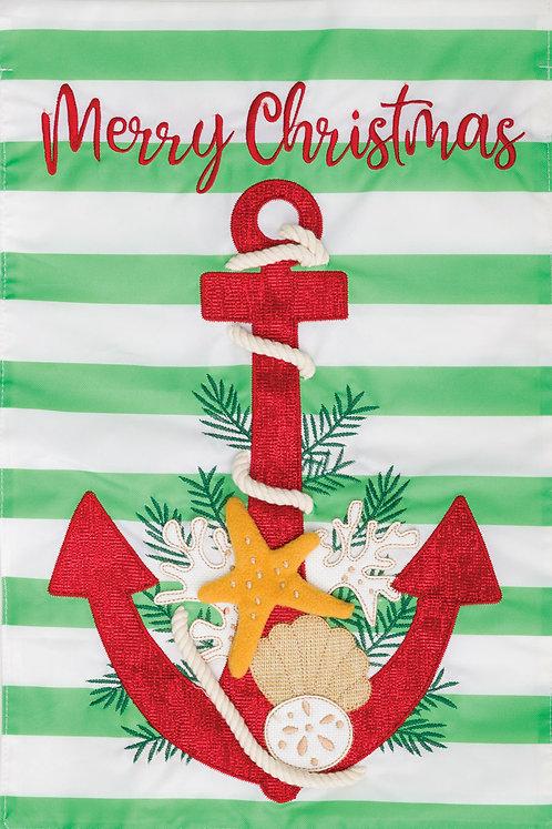 CHRISTMAS ANCHOR APPLIQUÉ FLAG