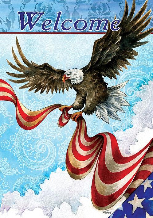PATRIOTIC EAGLE FLAG