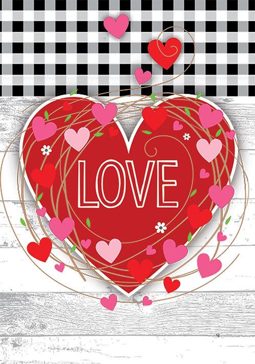 GINGHAM HEART FLAG
