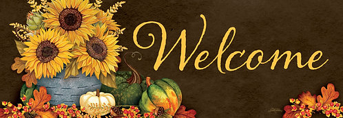 SUNFLOWERS & GOURDS SIGNATURE SIGN