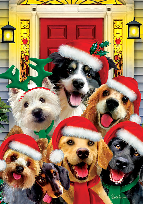 CHRISTMAS DOGS FLAG