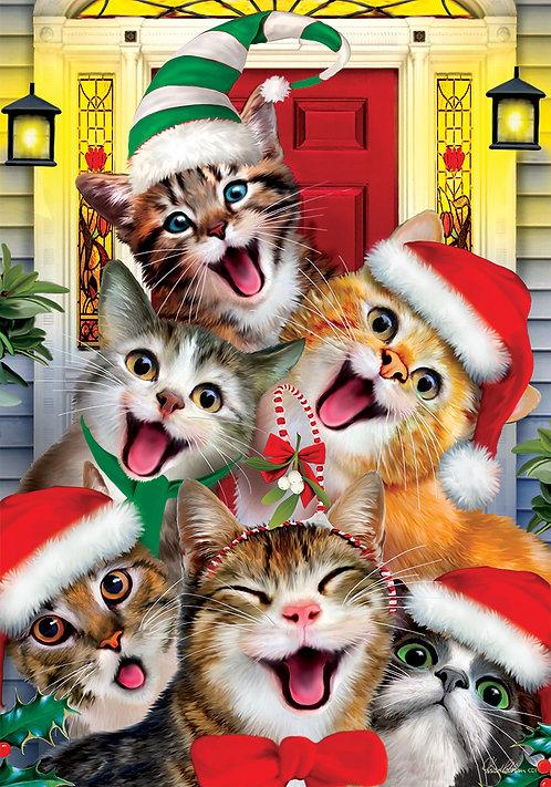 CHRISTMAS CATS FLAG
