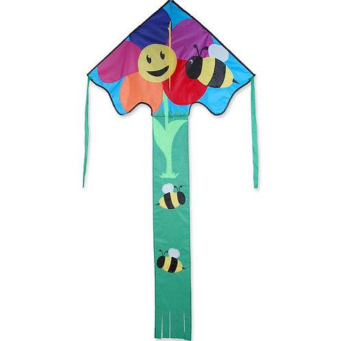 BEE & FLOWER LARGE EASY FLYER KITE