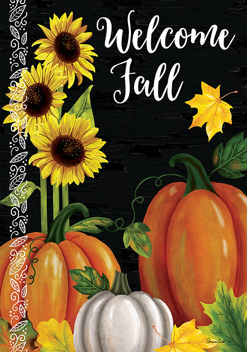 PUMPKIN TRIO LARGE DOUBLE SIDED FLAG