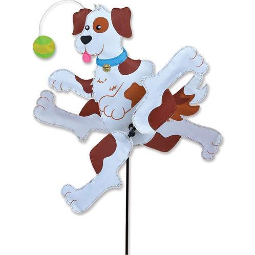 24in RUNNING DOG WHIRLIGIG SPINNER