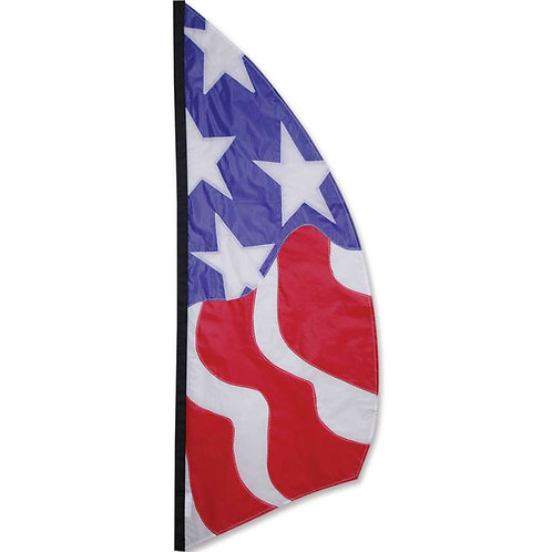 8.5ft PATRIOTIC FEATHER BANNER