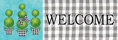GINGHAM TOPIARY SIGNATURE SIGN