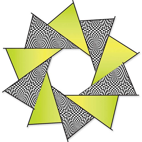 40in F-STOP SPINNER - NEON OP-ART