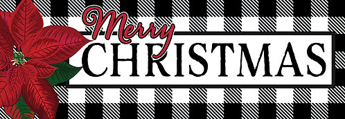 GINGHAM CHRISTMAS SIGNATURE SIGN