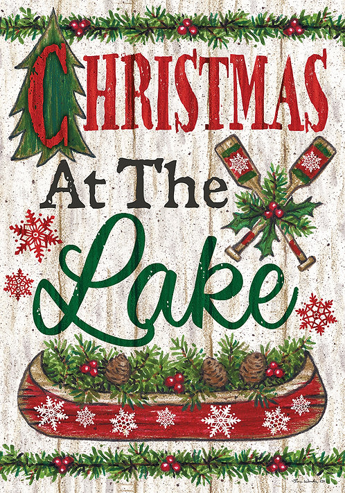LAKE CHRISTMAS DOUBLE SIDED FLAG