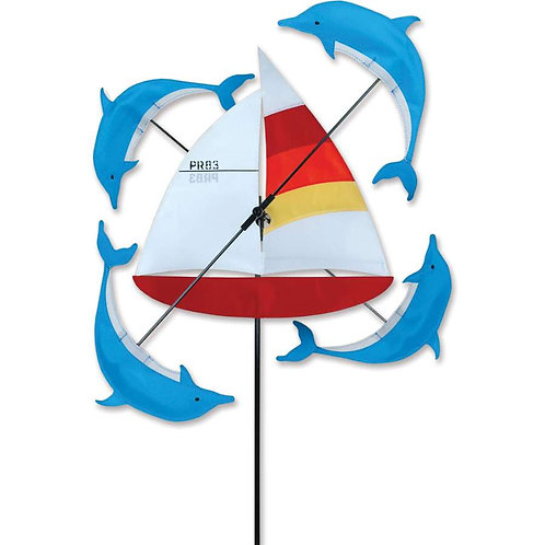 13in SAILBOAT WHIRLIGIG SPINNER