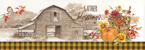 GATHER BLESSINGS SIGNATURE SIGN