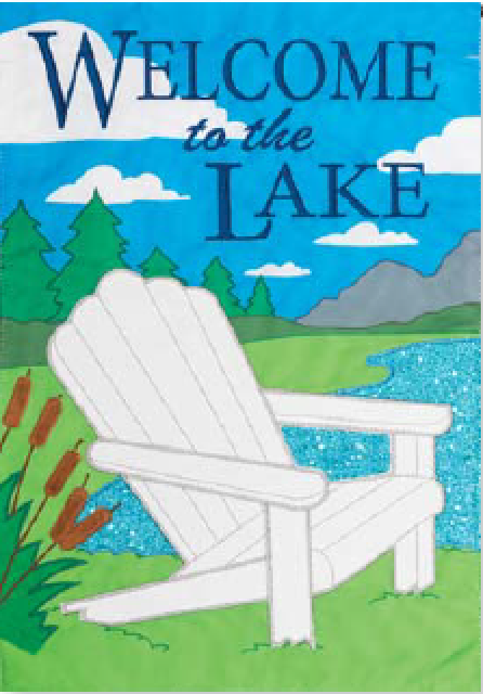 LAKE WELCOME APPLIQUÉ FLAG