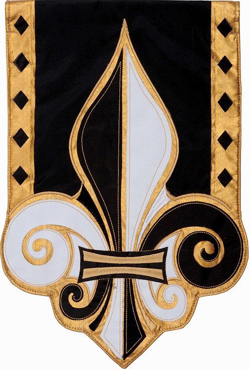 FLEUR DE LIS APPLIQUÉ FLAG