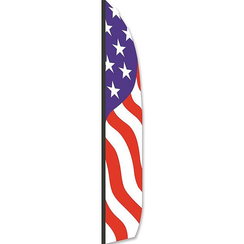 PATRIOTIC 16 ft FEATHER BANNER