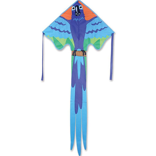 BLUE MACAW LARGE EASY FLYER KITE