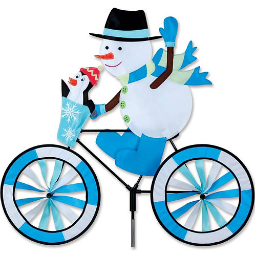 30in SNOWMAN BICYCLE SPINNER
