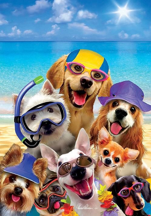 BEACH DOGS LARGE FLAG