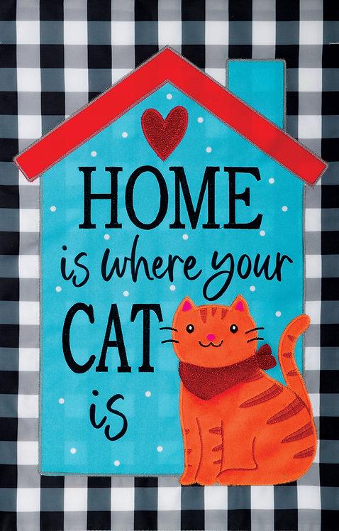 HOME CAT APPLIQUÉ FLAG