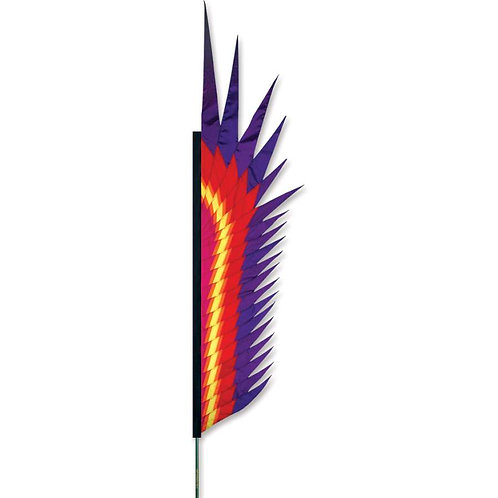 RED ELECTRA FEATHER BANNER by SOUNDWINDS