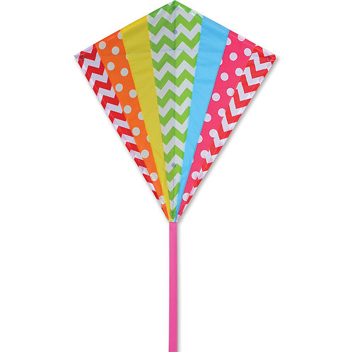 "30"" HIP RAINBOW DIAMOND KITE"