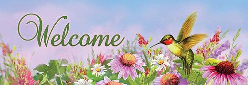 HUMMINGBIRD CONE FLOWER SIGNATURE SIGN