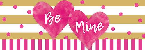 PINK & GOLD HEARTS SIGNATURE SIGN