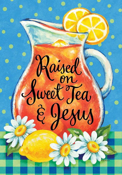 SWEET TEA & JESUS LARGE DOUBLE SIDED FLAG