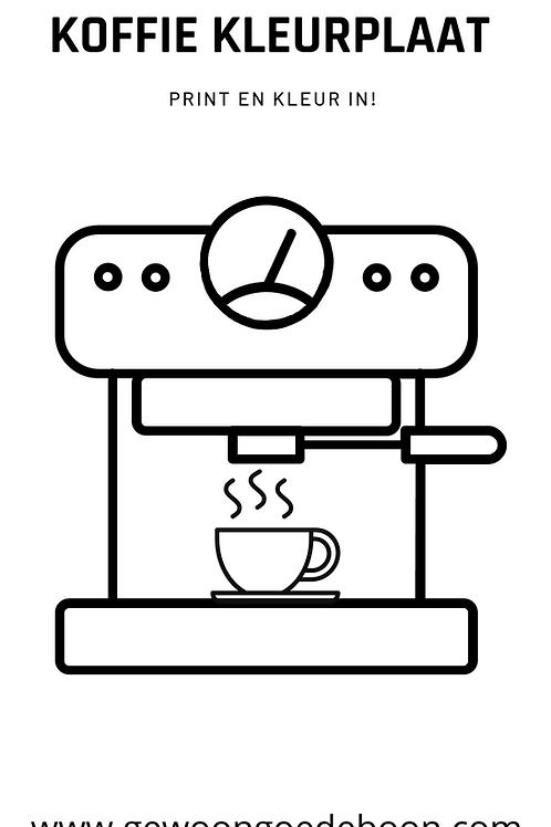 Koffiekleurplaat