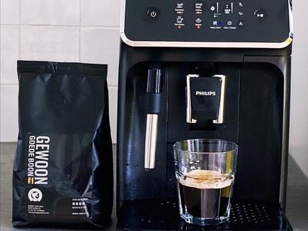 Deze koffiemachine hoort bij goede koffie