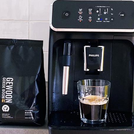 Deze koffiebonen machine hoort bij goede koffie