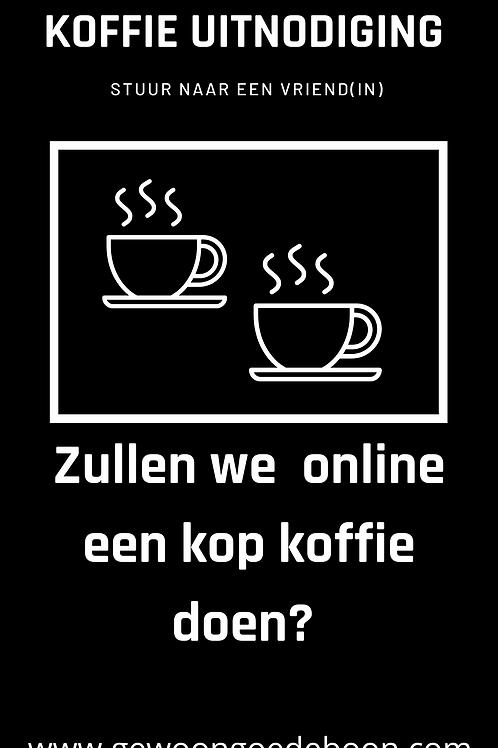 Koffie uitnodiging