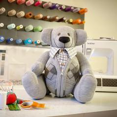 grey memory bear keepsake