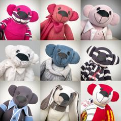 A bunch of Memory Bears