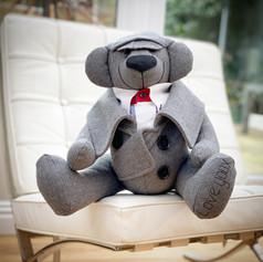 Grey Memory Bear