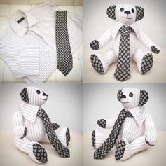 Shirt and Tie Memory Bear