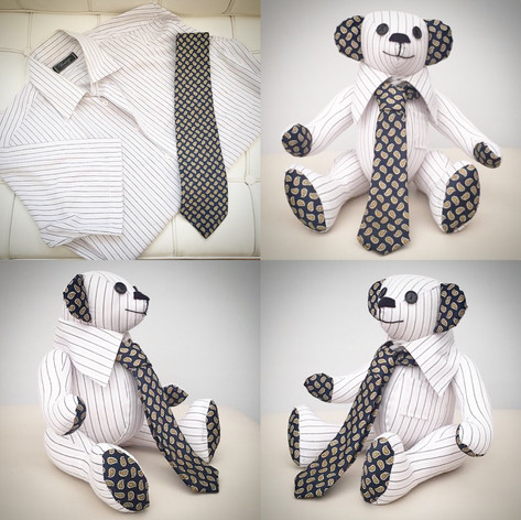 Shirt and Tie Memory Bear