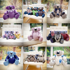 collection of memory bears