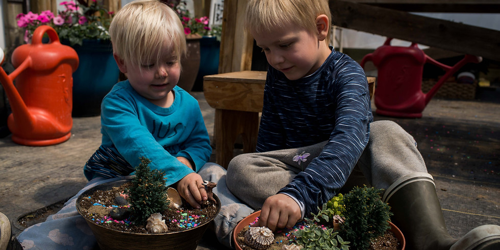 Kids Fairy Garden Workshop | BY APPOINTMENT ONLY | OR PICK-UP YOUR WORKSHOP BUNDLE TO DO AT HOME