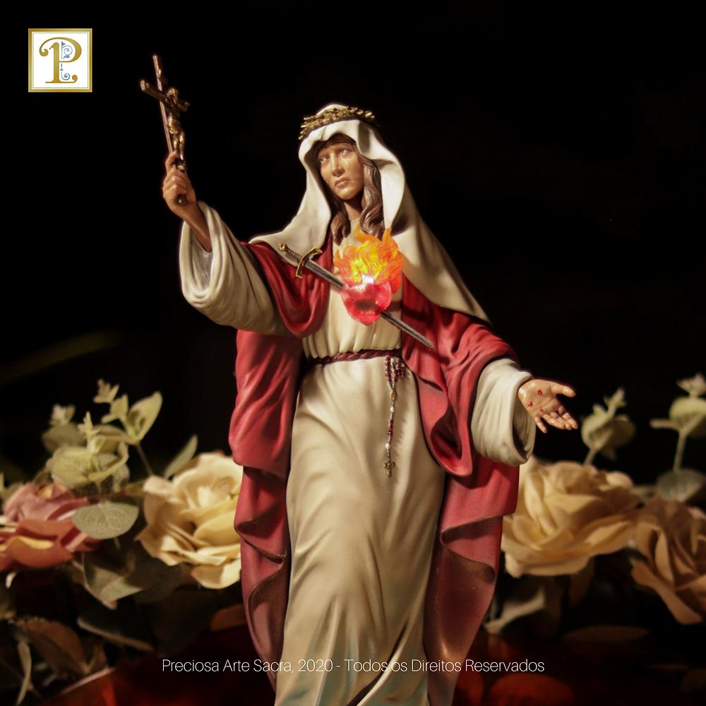Imagem de Nossa Senhora do Preciosíssimo Sangue - Preciosa Arte Sacra