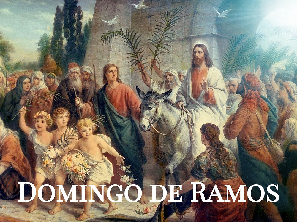 Jesus chega triunfante à Jerusalem