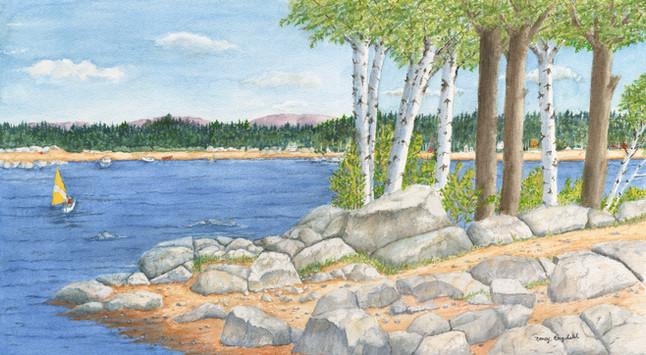 Nancy Engdahl - Sailboat Summer Arches.j