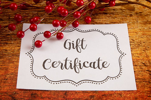 Gift Certificate -$175.00