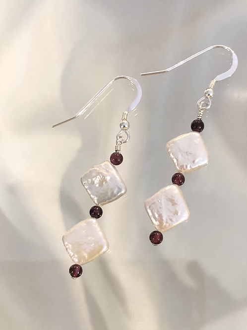 1- Raffle Ticket for Freshwater Pearls and Garnets Earrings