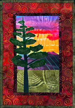Cathy Grigsby - Pine Tree Sunset