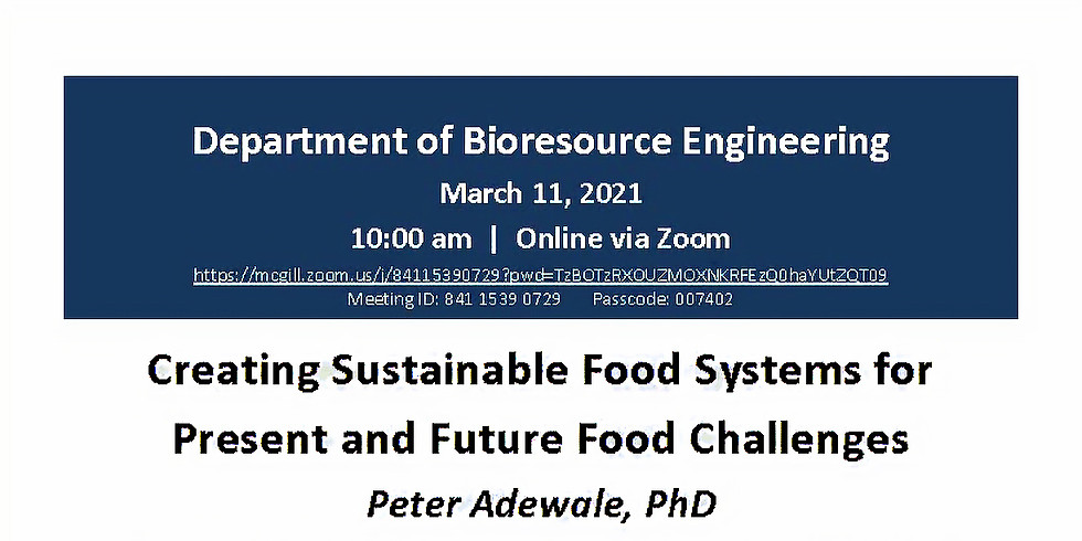 Creating Sustainable Food Systems for Present and Future Food Challenges