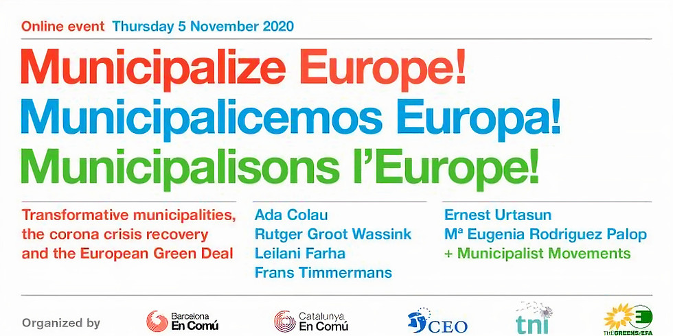 Municipalize Europe! Transformative municipalities, the corona crisis recovery and the European Green Deal